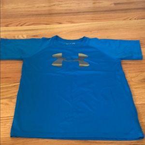 Boys blue under Armour T-shirt